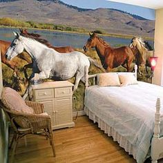 horse bedroom decor on pinterest horse bedrooms wall murals bedroom