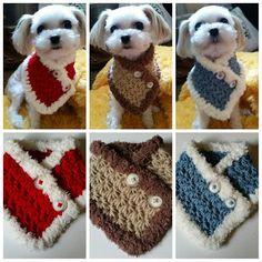 Perro pequeño de ganchillo, bufanda perrito Chooes de 3 colores adapta a perros más S o M