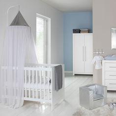 Babykamer Vittoria Wit - Ledikant - Commode - Kast