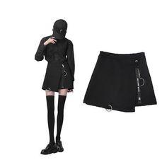 bf6d18b493f1 2017 Round skirt Korean version of the high waist thin a word wild skirt  girls irregular
