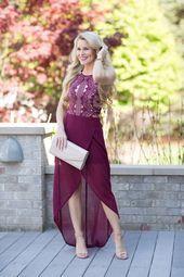 Easy Burgundy Dress Für Hochzeitsgäste # Wedding G Classy Outfits, Pretty Outfits, Pretty Clothes, Wedding Attire, Wedding Dresses, I Love Makeup, Burgundy Dress, Dressed To Kill, Models