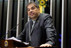 O suplente de Rollemberg, Hélio José, na Tribuna do Senado. Foto: Ag. Senado