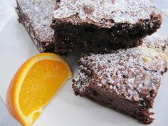 Brownies mit weisser Schokolade und Orange