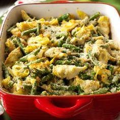 Sides: Italian Artichoke Green Bean Casserole