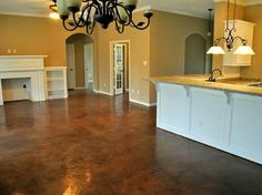 Stained Concrete Houston This is EXACTLY what I want out new house to look like! & Check out the DIY stained concrete living room floors this couple ...