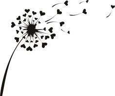 Love Heart Dandelion Wall Sticker