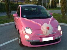 a pink Fiat my mom would love this!!