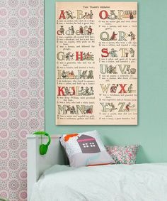 Look at this #zulilyfind! Olivia's Easel 'Tom Thumb's Alphabet' Gallery-Wrapped Canvas #zulilyfinds