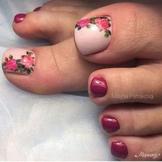 outstanding classy nail designs ideas for your ravishing look 38 - Free pattern and Tutori. 44 outstanding classy nail designs ideas for your ravishing look 38 outstanding classy nail designs ideas for your ravishing look 38 - Toenail Art Designs, Pedicure Designs, Manicure E Pedicure, Pedicure Ideas, Pretty Toe Nails, Cute Toe Nails, My Nails, Toe Nail Color, Toe Nail Art