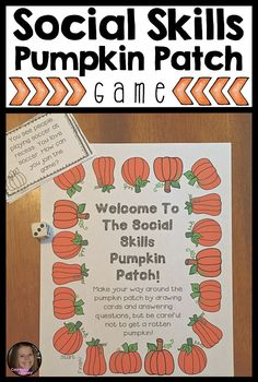 This board game includes 32 scenario cards, 8 game cards and 1 game board to help students learn and master social skills! Topics include manners, classroom situations, responding appropriately and social problem solving. This is a great, fall-themed, game to use at the beginning or end of social skills units!