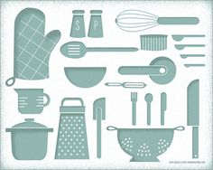 Hero Posters - Kitchen Tools Art Print