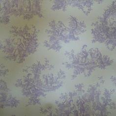 Provencale Toile De Jouy - Lilac - Lavender - Wallpaper - 6116 - Shabby Chic | eBay