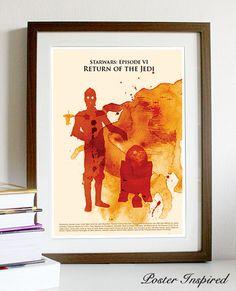 Star Wars: Episode VI Return of the Jedi - Poster A3 Print.
