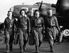 #vintage #photography   Women's Air Service Pilots (WASPs), 1944  #women #pilots