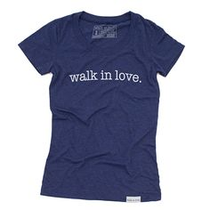 walk in love. Navy Women's T-Shirt | walk in love.