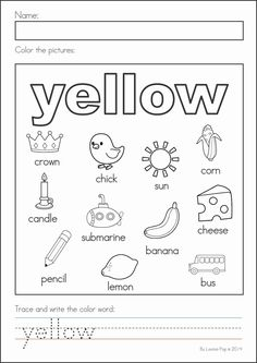 Kindergarten Back to School Math & Literacy Worksheets and Activities. A page from the unit: colors practice page Kindergarten Coloring Pages, Kindergarten Colors, Preschool Colors, Teaching Colors, Kindergarten First Day, Preschool Activities, Literacy Worksheets, Math Literacy, Worksheets For Kids