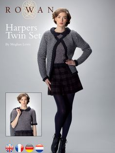 Harpers Twin Set free pattern download Rowan
