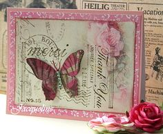 Butterfly card from Jacqueline