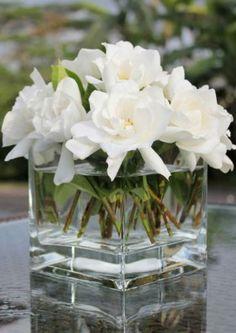 Si lo que quieres transmitir en tu celebración es la inmensa alegría que sientes por esta nueva etapa, llena el lugar con gardenias pues simbolizan la felicidad / Pinterest