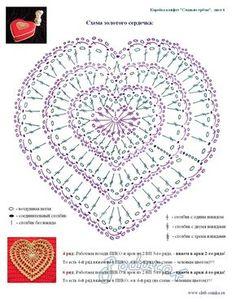 """Schéma ou diagramme pour crochet Modèle """"Coeur"""""""