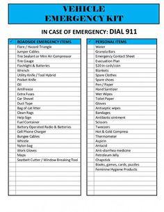 Emergency Preparedness Kit, Emergency Preparation, Emergency Supplies, Survival Prepping, Survival Gear, Survival Skills, Car Supplies, Survival Videos, Survival Shelter