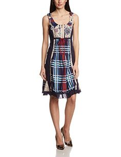 Shop Desigual Women Panpite A-Line Dress, Blue (Marino Size Free delivery and returns on eligible orders. Home And Away, Summer Dresses, Stylish, How To Wear, Amazon Fr, Clothes, Fashion, Fashion Branding, Woman Dresses