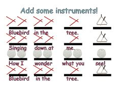 Bluebird - rhythm and instrument lesson for kinder/first - free download