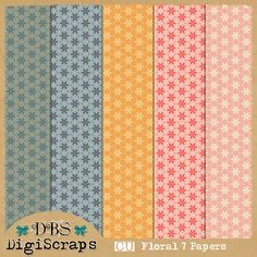 CU | 7 Free Floral Papers by DBS DigiScraps
