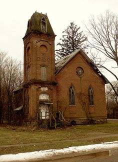Abandoned church in Vandalia, Michigan.