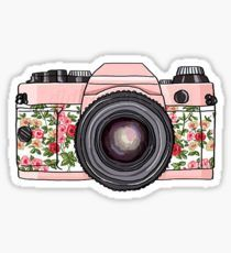 Retro pink photo camera floral print Printable Digital by DidiFox, Camera Drawing, Camera Art, Tumblr Stickers, Cute Stickers, Pink Photo, Vintage Diy, Vintage Floral, Vintage Cameras, Aesthetic Stickers