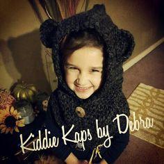 Bear Cowl handmade crochet by Kiddie Kaps by Debra www.facebook.com/kiddiekapsbydebra