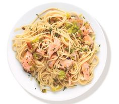 Buttery Pasta With Salmon and Leeks recipe