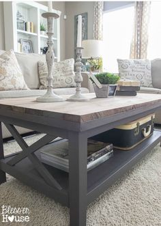 11+ Free Modern Coffee Table Ideas You Can DIY Today! #ModernCoffeeTable #CoffeeTableIdeas #CoffeeTable #CoffeeTableStyles