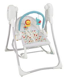Love this 3-in-1 Swing 'n' Rocker I purchased a few weeks ago. It comes with a plug so we dont have to worry about batteries. It's a Bouncy seat, swing & rocking chair all in one.