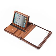 Letter-Size Portfolio With Detachable iPad Holder and Angled Viewing   iCarryalls Leather Fashion  www.iCarryalls.com