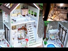 DIY Miniature Dollhouse Kit Cute Bedroom Roombox with Working Lights! / Relaxing Crafts - YouTube