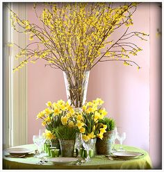 Love these yellow forsythia and daffodils.