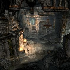 dwarven city skyrim - Google Search