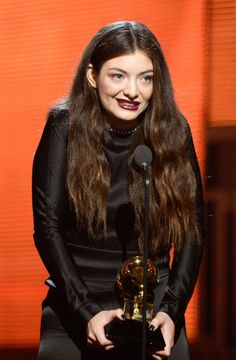 Lorde accepted the Grammy for best pop solo song