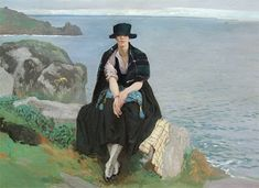Lamorna Cove by Dame Laura Knight 1877 - 1970