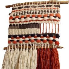 telares decorativos de arboles - Buscar con Google Pin Weaving, Weaving Art, Tapestry Weaving, Loom Weaving, Weaving Wall Hanging, Yarn Thread, Weaving Textiles, Weaving Projects, Weaving Techniques