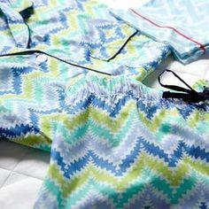 2-Piece Dara Summer Pajama Set in Blue.