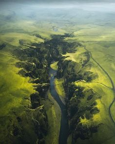 An aerial view of the Fjaðrárgljúfur, a massive canyon in Iceland More memes, funny videos and pics on Landscape Photography, Nature Photography, Travel Photography, Happy Photography, Photography Women, Photography Tips, Portrait Photography, Places To Travel, Places To See