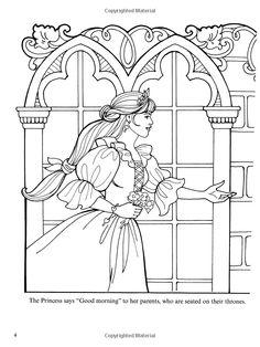 Dover Publications on Amazon / Princess Leonora Coloring Book / Eileen Rudisill Miller