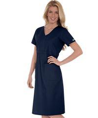Butter-Soft Scrubs by UA - Empire Waist Scrub Dress Style # Nursing Clothes, Nursing Dress, Nursing Uniforms, Modest Casual Outfits, Modest Fashion, Cherokee, Scrub Skirts, Black Scrubs, Uniform Dress