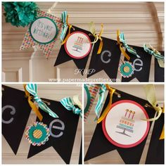 A close up of the Simply Created Chalkboard Banner Kit.
