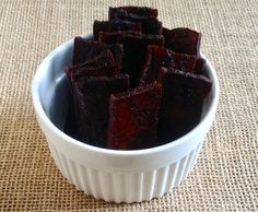 This simple and flavorful Vegan Tofu Jerky recipe is created with the help of dehydrator and will become your go-to flex snack to add to your weekly menu. Vegan Jerky, Jerky Recipes, Vegan Recipes, Vegan Snacks, Yummy Snacks, Sparks Recipes, Tofu Breakfast, Dehydrator Recipes