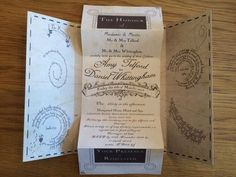 Followed shortly be a full-on invite, and this one is EVERYTHING. | 27 Things You Need To Have A Classy AF Harry Potter Wedding