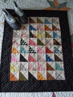 good idea for a basic hand quilted wall hanging