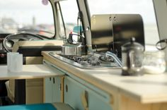 VW camper van interior kitchen